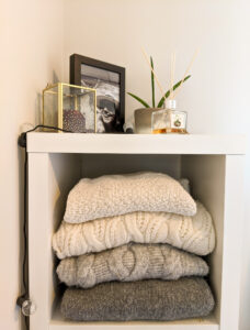 clothing on the shelve