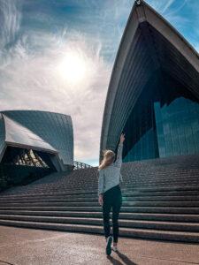 Woman in Sydney Opera House