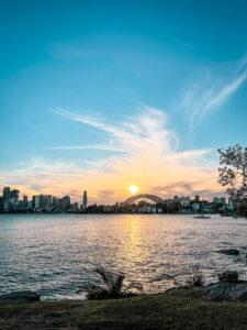 Sydney Harbour sunset view